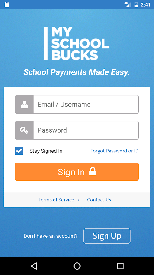 MySchoolBucks- screenshot