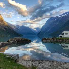 Camping at Loenvannet, Norway.  by Monita Alstadsæter - Landscapes Travel ( loenvannet )