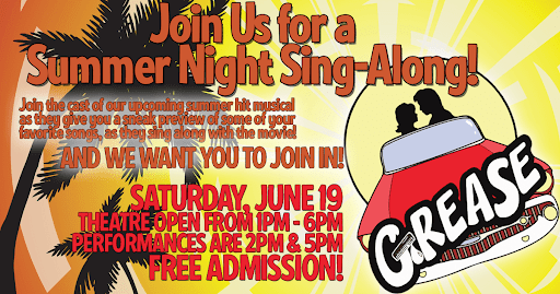 Free: Summer Night Sing-Along at Lee Street Theatre, with cast of Grease
