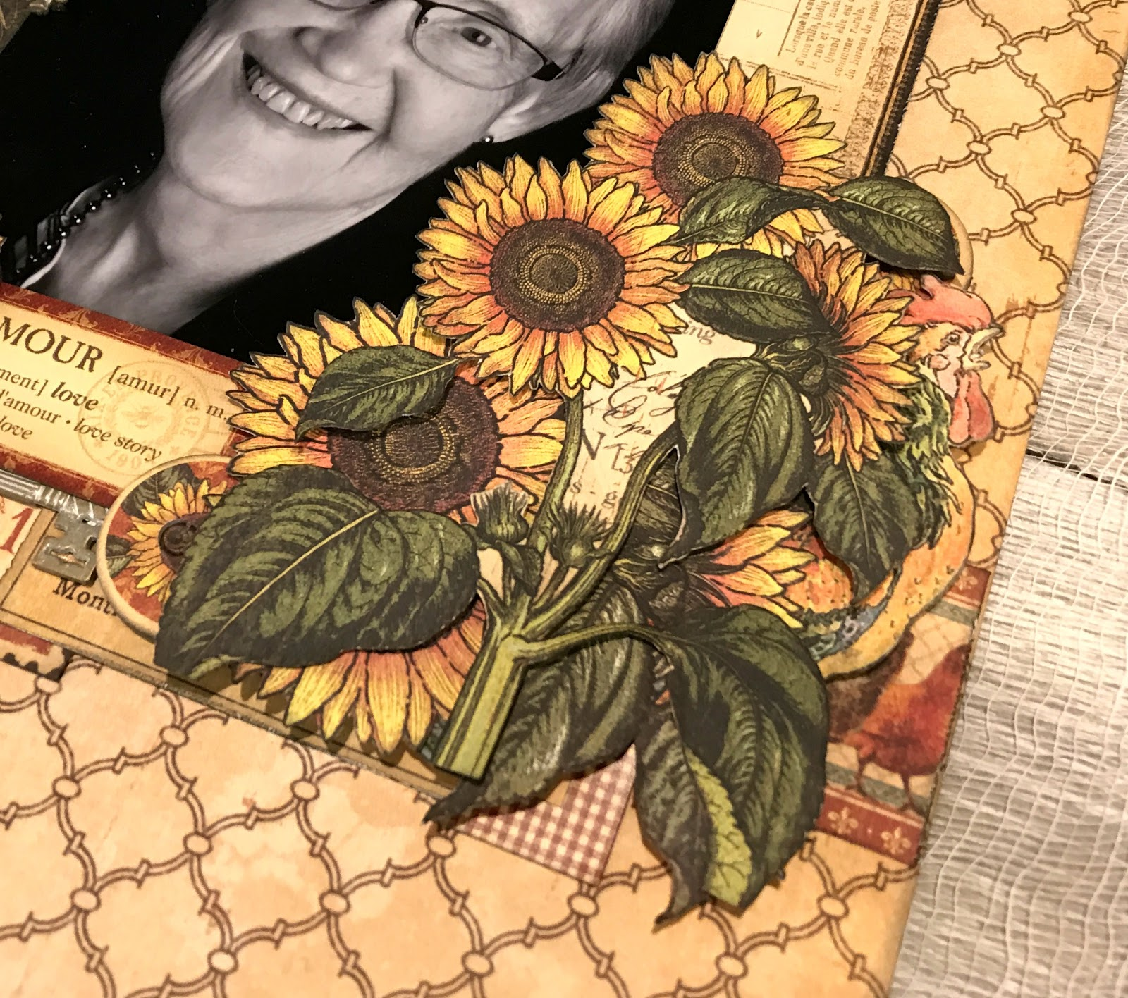 Amour Scrapbook Layout, French Country DCE, Tutorial by Katelyn Grosart, Product by Graphic 45, Photo 2.jpg