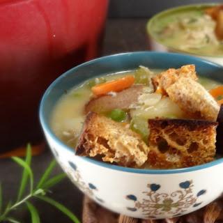 Tarragon Chicken Pot Pie Soup