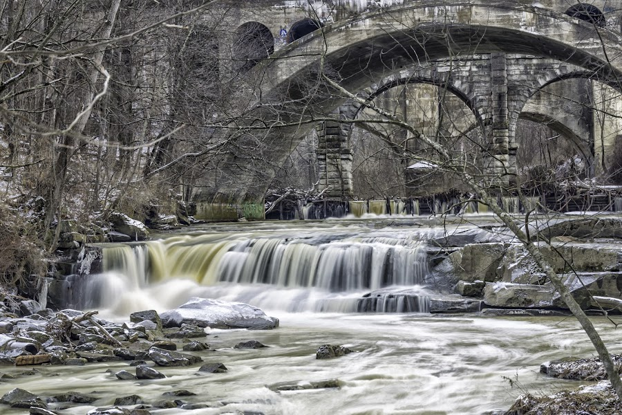 Bridge over water  by Tammy Scott - Landscapes Waterscapes ( waterfalls, nature, waterfall, nature up close, nature photography, architecture, bridge, bridges )