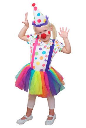 Dräkt, Clownklänning 2-4 år
