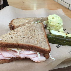 LA bird sandwich on GF bread