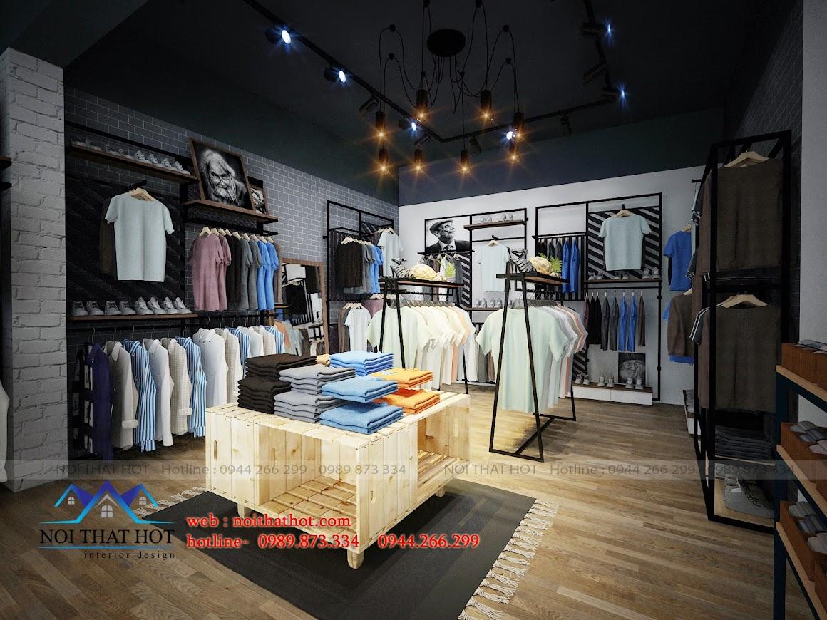Thiết kế shop thời trang nam Q&M trẻ trung cá tính