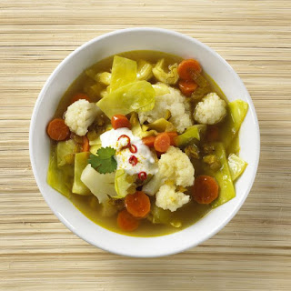 Indian Spiced Vegetable Broth.