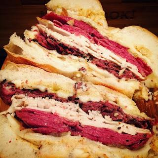 Triple-Meat NYC Deli Sandwich Recipe.