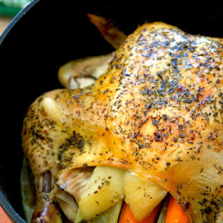 Dutch Oven Whole Chicken.