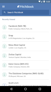 PitchBook Mobile- screenshot thumbnail