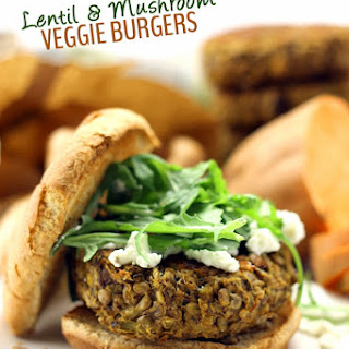 Lentil and Mushroom Veggie Burgers Recipe