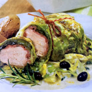 German Savoy Cabbage Chicken Ham Rolls.