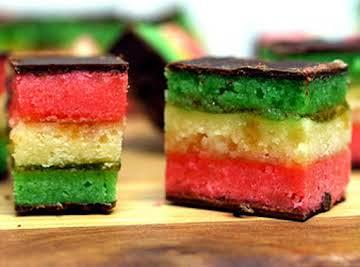 Venetians - Rainbow Cookies