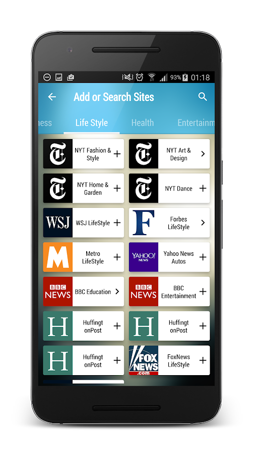 Max Reader - News, RSS feeds- screenshot