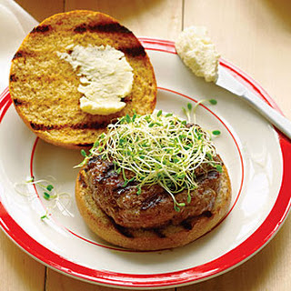 Beer and Bison Burgers with Pub Cheese.