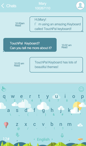 TouchPal Weather Cloudy Theme