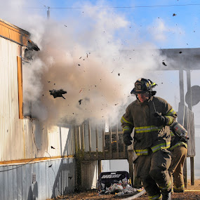 Close Call by James Bokovoy - Professional People Law Enforcement ( firefighter, structure fire, house fire, fire, first responder, fire department )