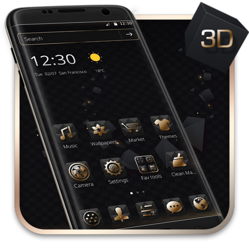 Luxury Golden 3D Black Tech file APK for Gaming PC/PS3/PS4 Smart TV