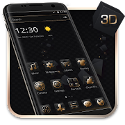 Luxury Golden 3D Black Tech