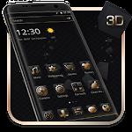 Luxury Golden 3D Black Tech Icon