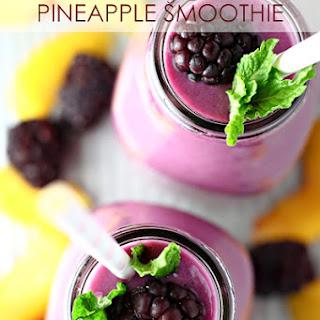 Blackberry Peach Pineapple Smoothie Recipe