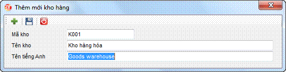 Danh mục kho hàng phần mềm kế toán 3tsoft