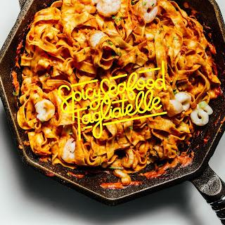 Spicy Seafood Tagliatelle.