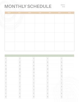 Numbered Schedule - Planner item