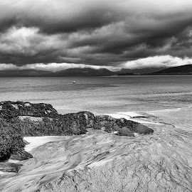 Storm Brewing by Cecilia McQueen - Landscapes Waterscapes ( isle of harris, storm, beach, clouds,  )
