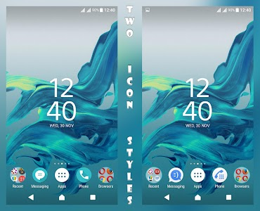 Delight Aqua XZ Theme Xperia screenshot 0