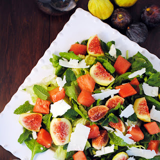 Fig Watermelon Spinach Salad