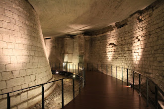 Photo: At the heart of the Louvre complex there used to be a military castle. These are the underground remains.