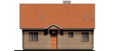 D80 - Filip wersja drewniana - Elewacja przednia