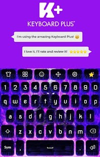 Purple Fire Animated Keyboard - náhled