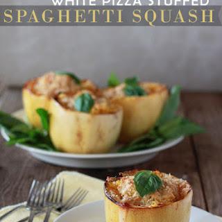 White Pizza Stuffed Spaghetti Squash