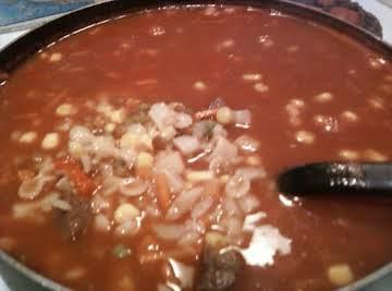 Vegetable beef soup(sense of humor version)