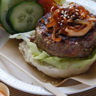 Korean Beef Burger With Chilli Mayo