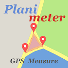 Planimeter - GPS area measure  land survey on map icon