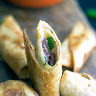 Crispy Duck Flautas with Orange Sriracha Mayonnaise