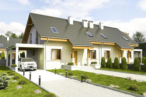 projekt Gajówka z wiatą A1-BL2