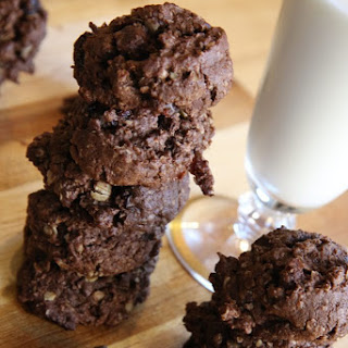 Double Chocolate Oatmeal Cookies with Dried Cherries