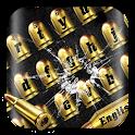 Gold Gunnery Bullet Keyboard icon