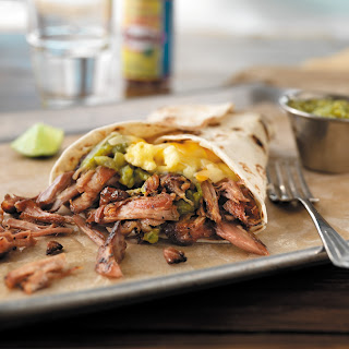 Green Chile Pulled Pork Breakfast Wrap.