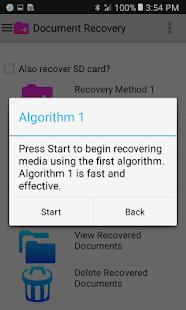 Document Recovery Screenshot