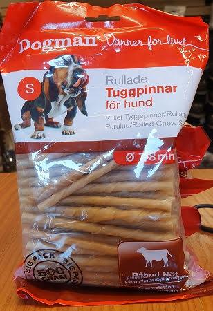 Dogman Rullade Tuggpinnar För Hund 100 st
