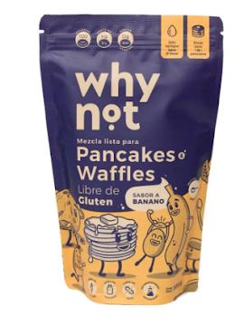 Mezcla Para Pancakes Y Waffles Why Not Sabor A Banano x 300Gr