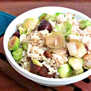 Brussels Sprout Chestnut Rice.