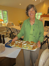 Photo: Cynthia serves her special stuffed clams.