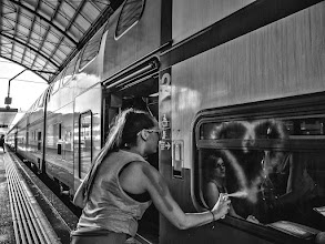 Photo: she ❤ public transport  #StreetPics  #street #streettogs #streetphotography #shootthestreet #blackandwhite #blackandwhitephotography #bw #monochrome  #monochromeartyclub #monochromephotography