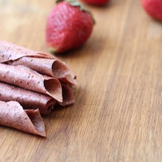 Strawberry-banana Fruit Leather.