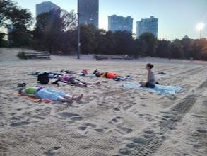 Photo: Yoga on the beach